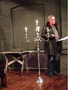 Repbild från januari. Leif Persson i rollen som Gustaf Fjaestad